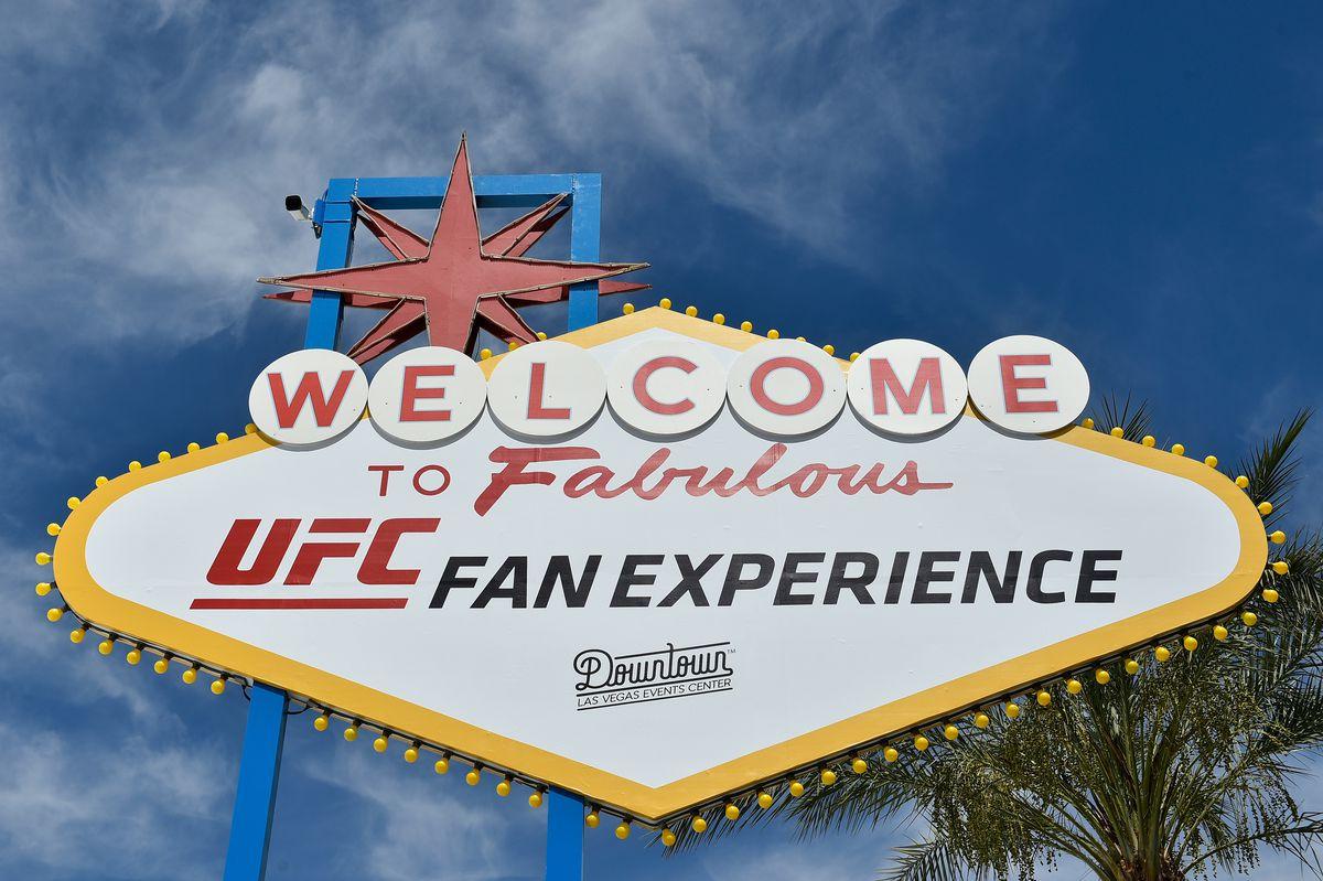 UFC Fan The UFC Fan Experience sign from International Fight Week 2019.