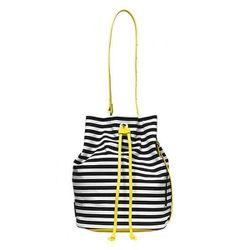 "Bucket Bag in Stripe, $120 at <a href=""http://www.saturday.com/Bucket-Bag-in-Stripe/4IRU0021,en_US,pd.html?dwvar_4IRU0021_color=007"">Kate Spade Saturday</a>"