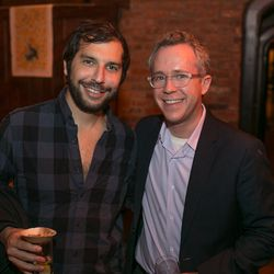 Eater Nightlife editor Scott Solish and Curbed poobah Josh Albertson
