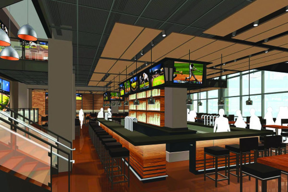 A rendering of the new U.S. Cellular Field restaurant and bar.