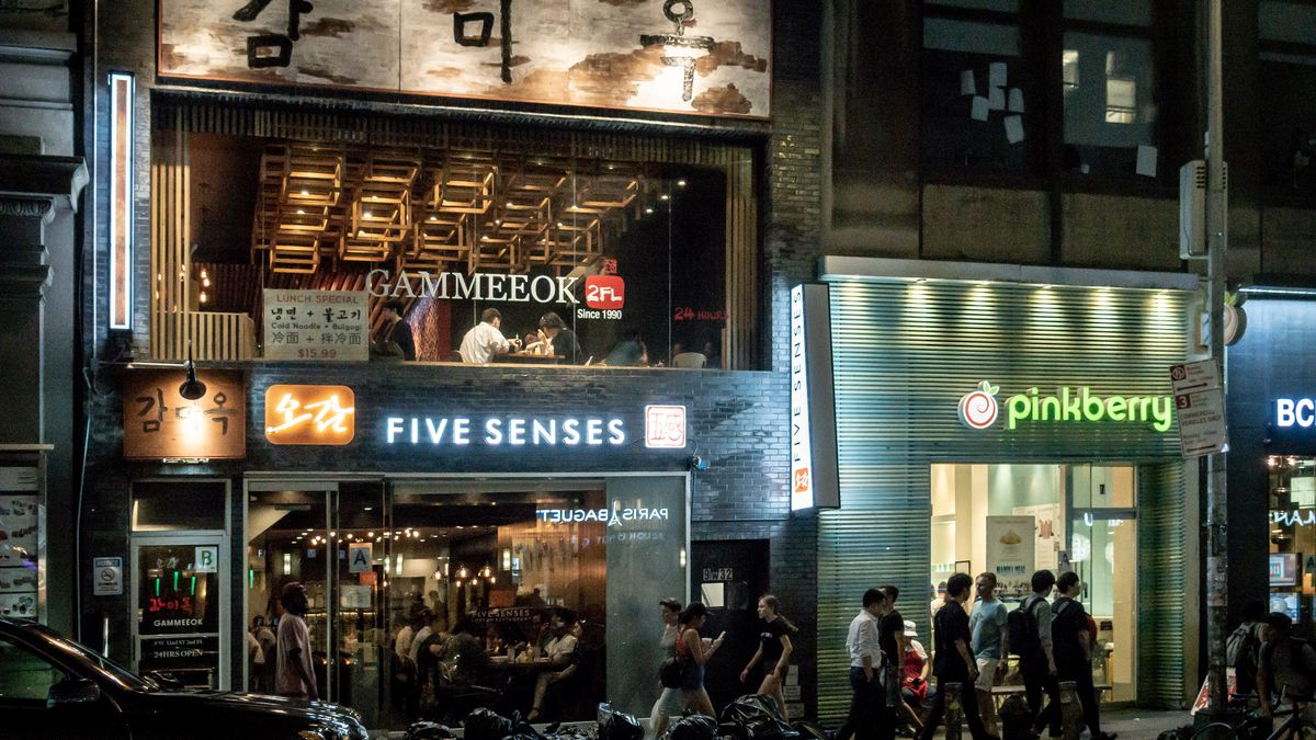Gammeok, one of the remaining restaurants from a different era, moved to a 2nd floor to save money