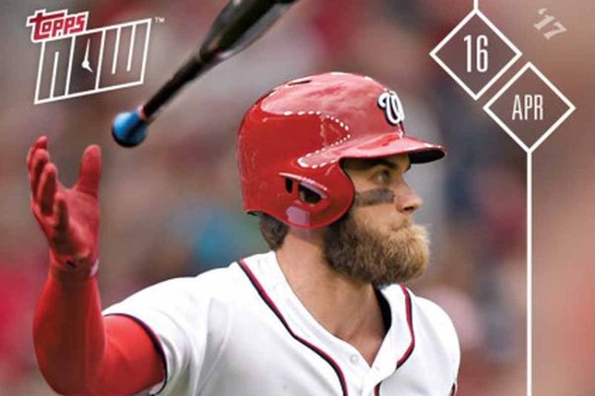 Bryce Harpers Walk Off Home Run Gets Topps Now Treatment
