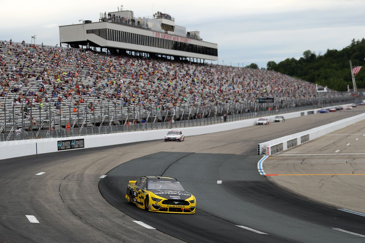 Brad Keselowski, driver of the #2 Western Star/Alliance Parts Ford, drives during the NASCAR Cup Series Foxwoods Resort Casino 301 at New Hampshire Motor Speedway on August 02, 2020 in Loudon, New Hampshire.
