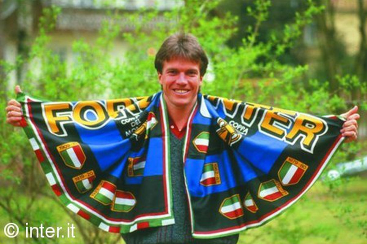Lothar Matthaeus helped Inter beat Partizan on their way to UEFA cup glory in 1990.