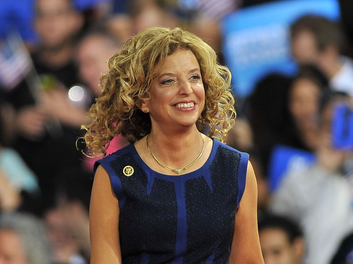 U.S. Rep. Debbie Wasserman Schultz, D-Fla., is shown in 2016 at a campaign rally in Miami. Florida police said Wednesday they were investigating a suspicious package near the congresswoman's Florida office hours after authorities intercepted potential exp