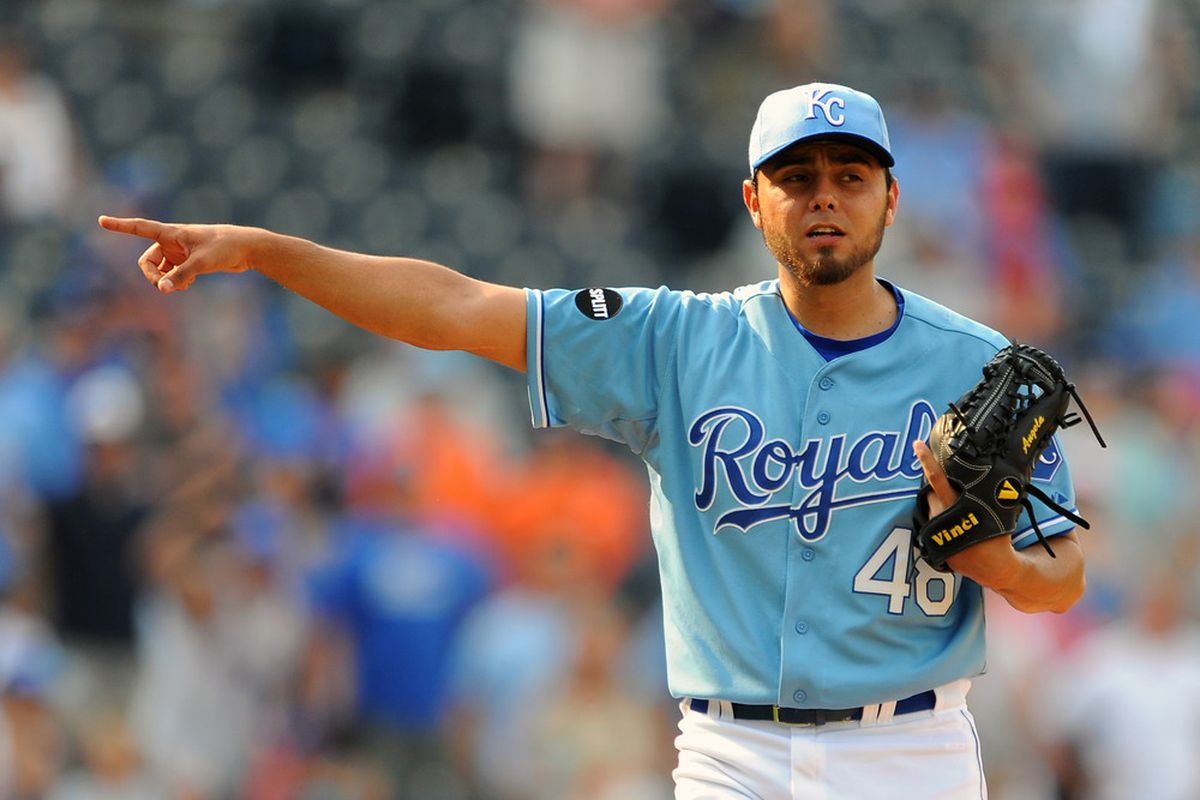 Joakim Soria of the Kansas City Royals (Photo by G. Newman Lowrance/Getty Images)