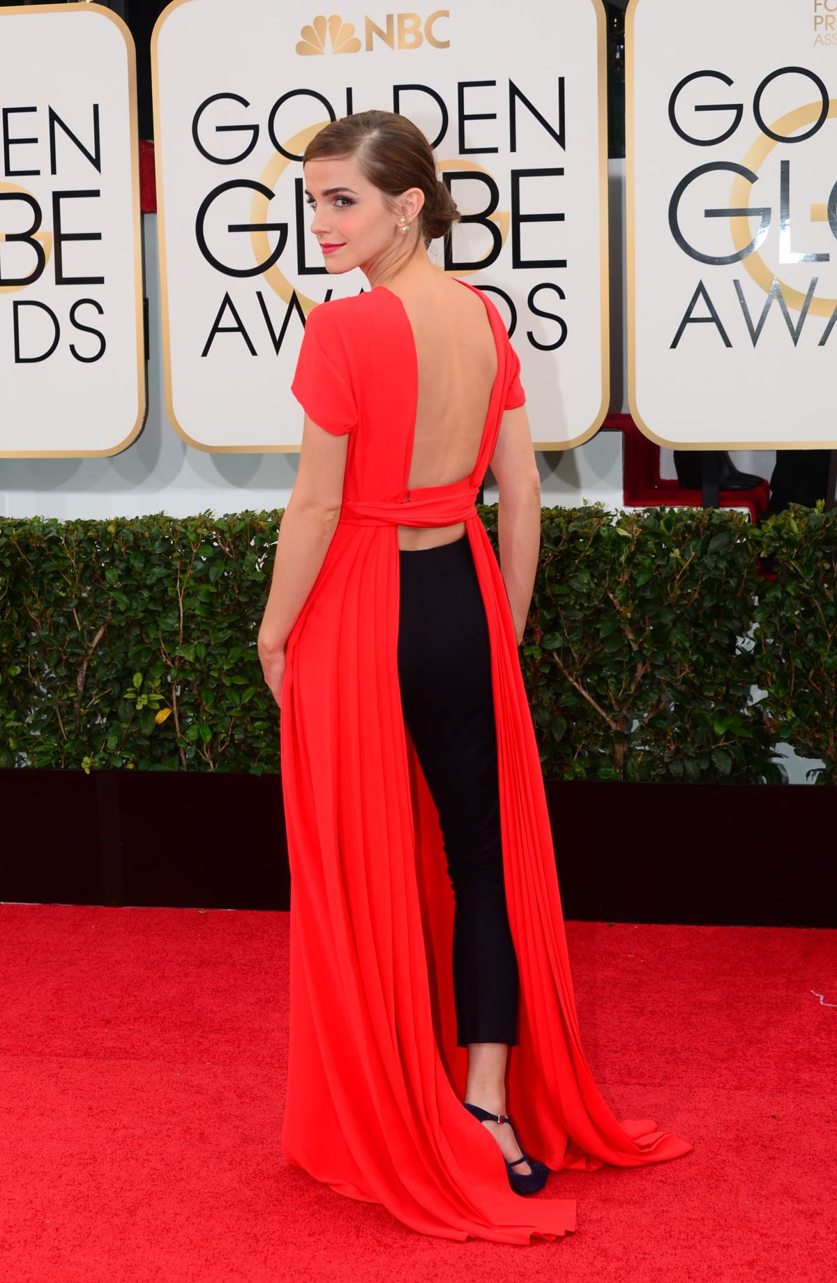 Emma Watson in Pants at the Golden Globes