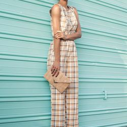 """Grasie of <a href=""""http://www.grasiemercedes.com""""target=""""_blank"""">Style Me Grasie</a> is wearing a Camp Collection <a href=""""http://shopcamp.com/collections/tops/products/noa-s-top-yellow-plaid""""target=""""_blank""""> top</a> and <a href=""""http://shopcamp.com/coll"""