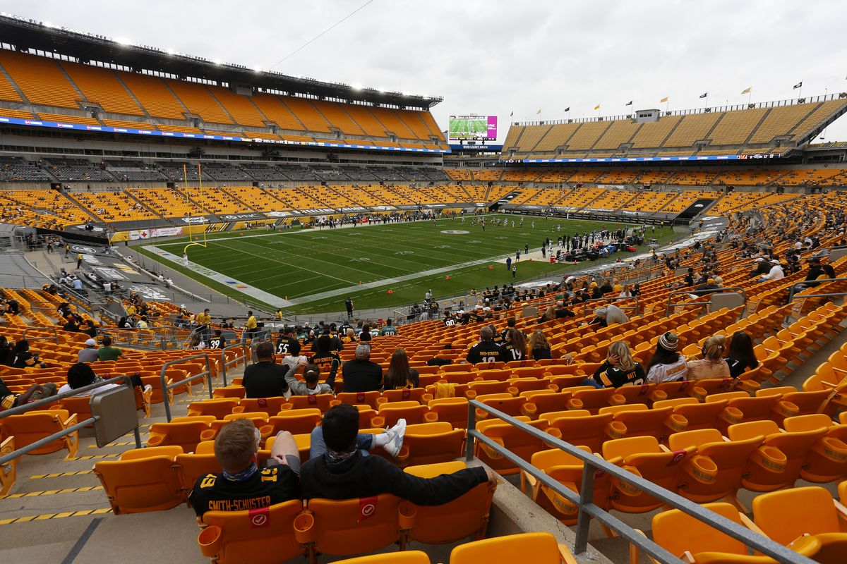 A general view of Heinz Field during the game between the Pittsburgh Steelers and the Philadelphia Eagles on October 11, 2020 at Heinz Field in Pittsburgh, Pennsylvania.