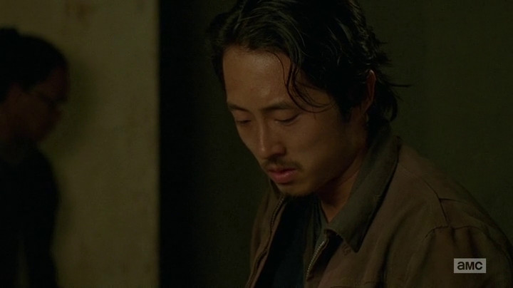 Glenn kills someone for the first time.