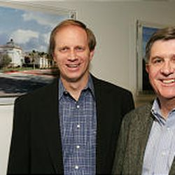 Senior vice president Kent Christensen, left, and CEO Kenneth Woolley at their Extra Space Storage headquarters in Salt Lake City.