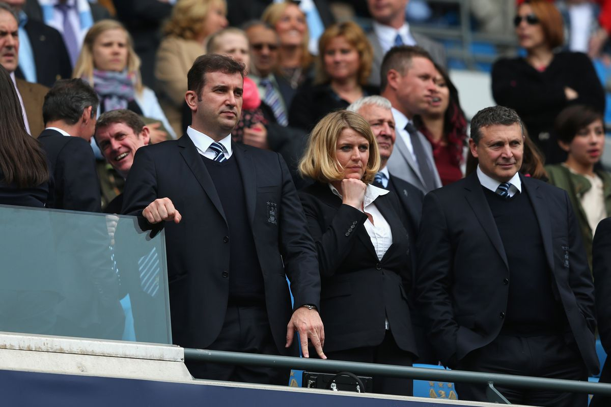 Ferran Soriano looks on at Manchester City.  The CEO will lead the way in establishing NYCFC.