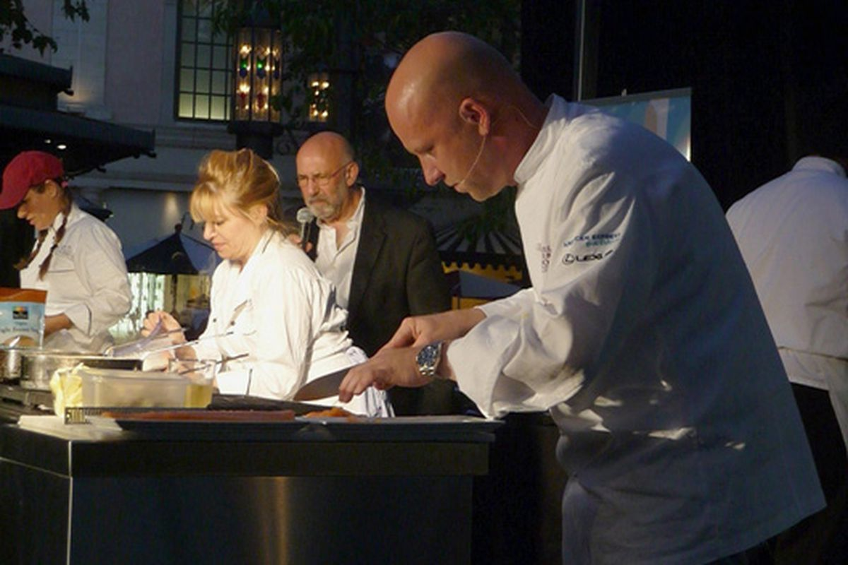 Top Chef alums Stefan and Betty, at the Grove.