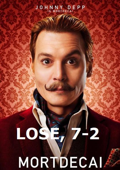 LOSE 7-2