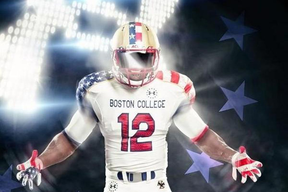 timeless design 37e75 77708 Boston College To Wear Special Uniforms For Maryland Game ...