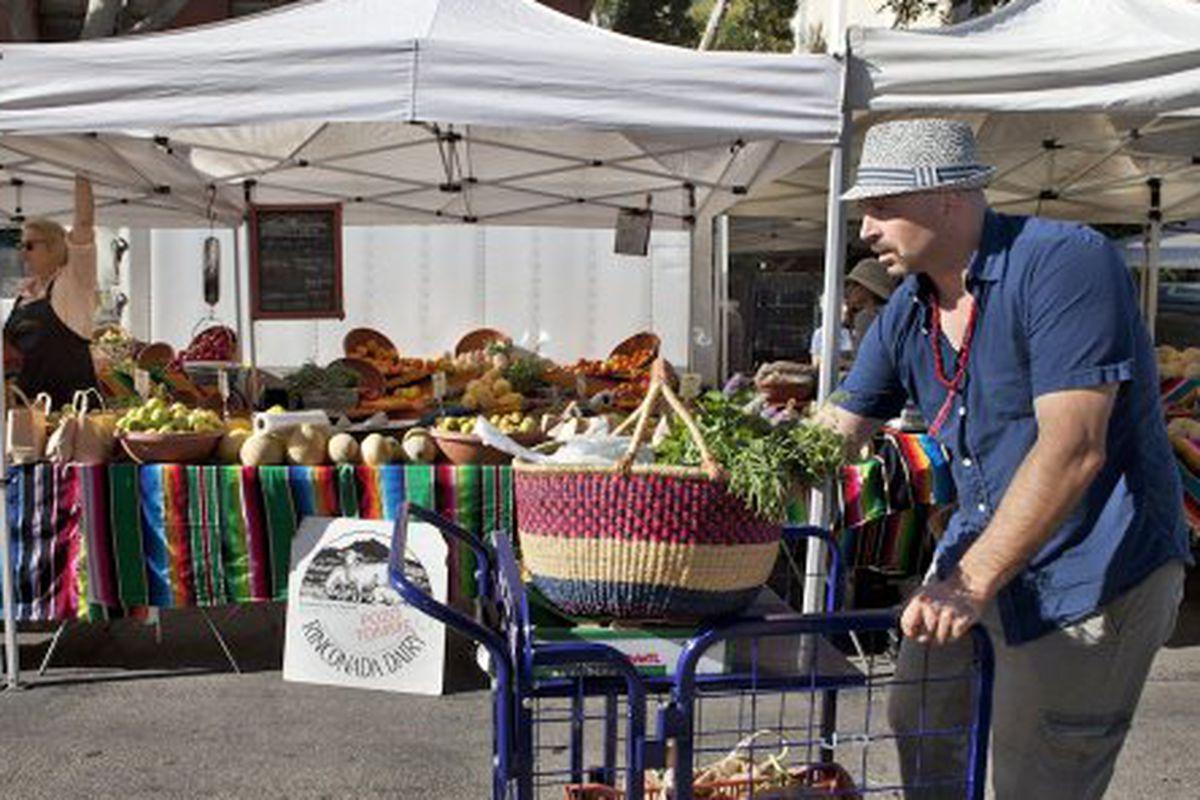 Matthew Biancaniello at Santa Monica Farmer's Market