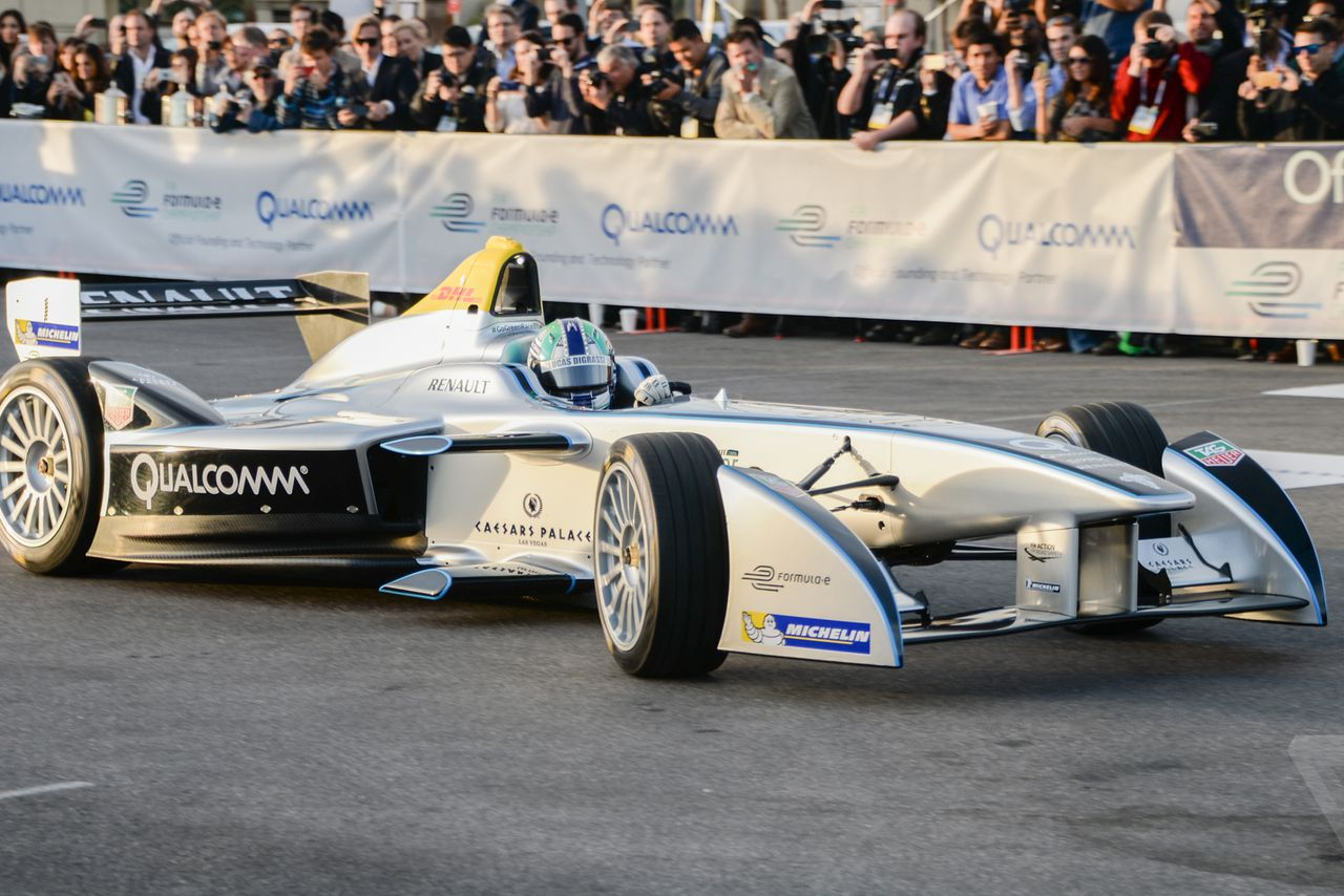 The electric grand prix the world s first formula e car packs a punch