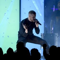 """Dan Reynolds of Imagine Dragons performs """"Believer"""" at the Billboard Music Awards at the T-Mobile Arena on Sunday, May 21, 2017, in Las Vegas."""