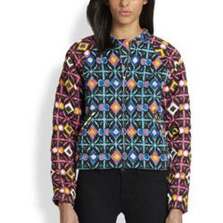 """<strong>Mara Hoffman</strong> Trickster Quilted Bomber Jacket, <a href=""""http://www.saksfifthavenue.com/main/ProductDetail.jsp?PRODUCT%3C%3Eprd_id=845524446601452&R=478989915095&P_name=Mara+Hoffman&sid=14133FFEF730&Ntt=mara+hoffman&N=0&bmUID=k4NrTXz"""">$370<"""