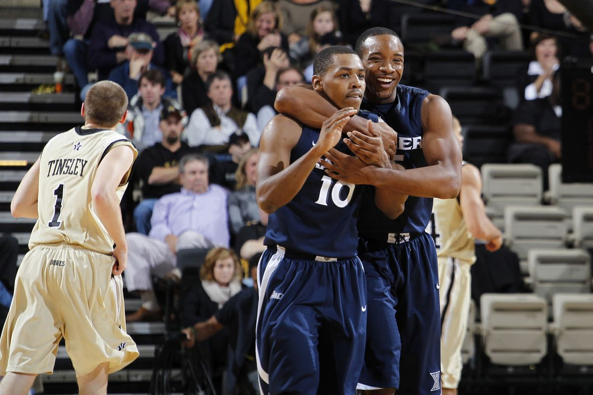 After some ugly ball early, it was all hugs and smiles for Xavier at the end.