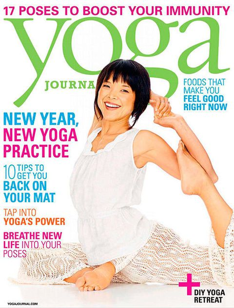 Yoga Journal Covers Racked