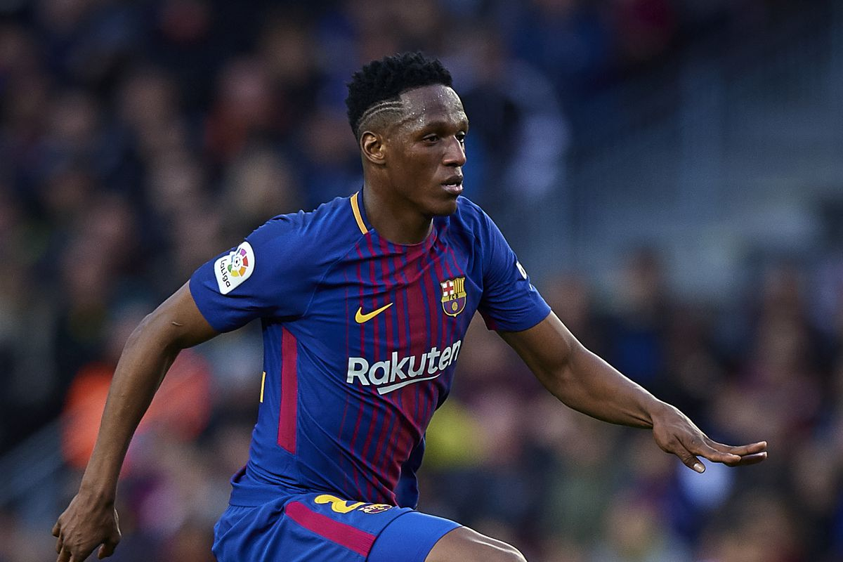 Yerry mina adapting well but still learning at barcelona barca photo by quality sport imagesgetty images yerry mina made stopboris Choice Image
