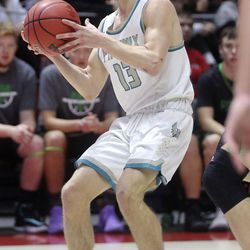 Provo plays Farmington in the 5A boys basketball state quarterfinals at the Huntsman Center in Salt Lake City on Tuesday, Feb. 25, 2020. Farmington won 78-76 in overtime.