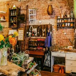 """<b>↑</b> If you're in need of a dose of pretty, pop into <b><a href=""""http://saffron-brooklyn.com/"""">Saffron</a></b> (31 Hanson Place) for their unconventional and enchanting mix of flowers, art, and vintage. With their expert arrangements dotted by colorfu"""