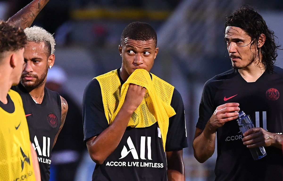 Kylian Mbappe and Neymar - Paris Saint-Germain - UEFA Champions League