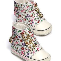 """Adorable for a baby, plus we could sort of see Aunt Solange in these. <a href=""""http://www1.bloomingdales.com/shop/product/juicy-couture-infant-girls-floral-printed-sneakers-sizes-0-12-months-infant?ID=578610&CategoryID=18036#fn=spp%3D17%26ppp%3D96%26sp%3D"""