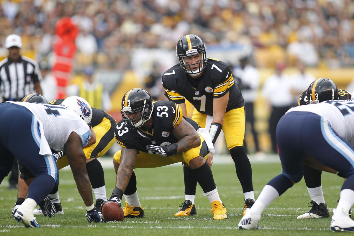 Pittsburgh Steelers Ben Roethlisberger and Maurkice Pouncey make