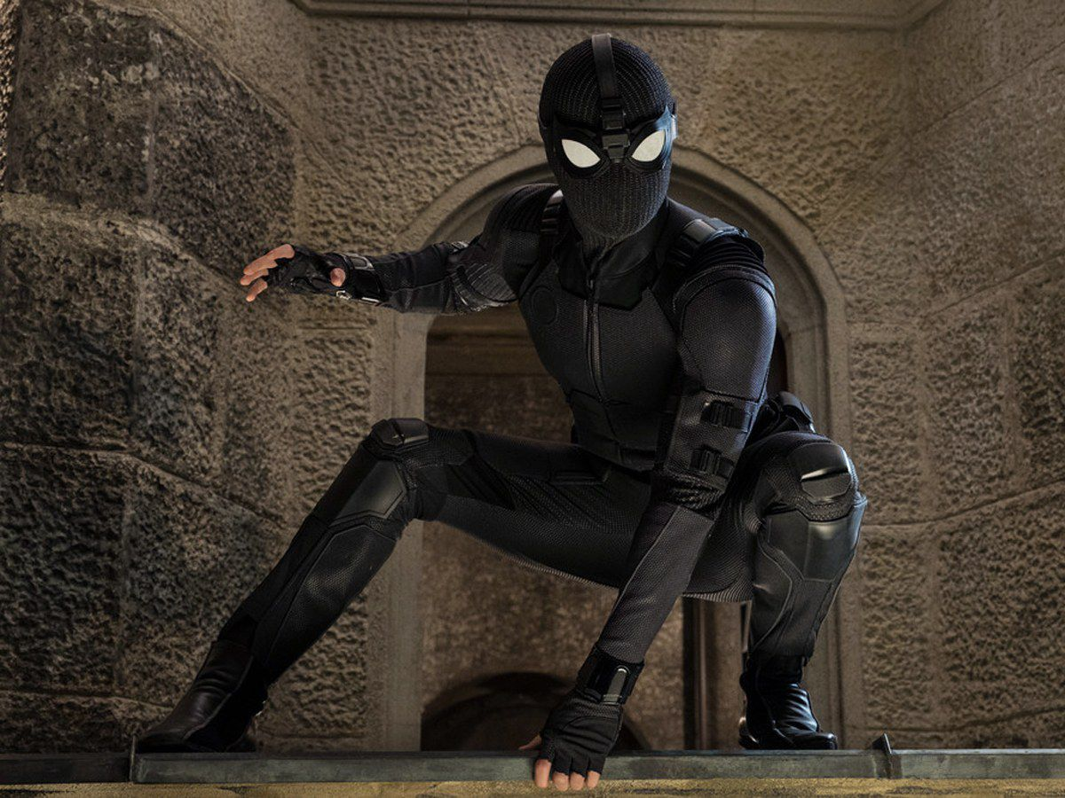 Tom Holland as Spider-Man in Spider-Man: Far From Home