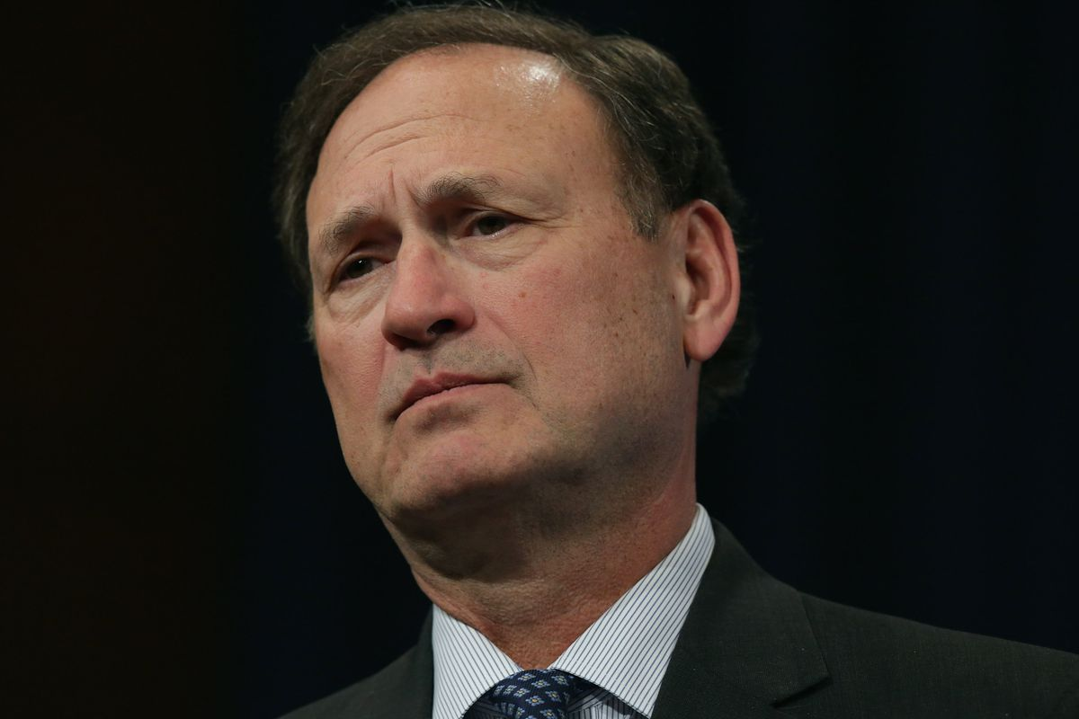 Supreme Court Justice Alito Gives Talk At Georgetown Law School