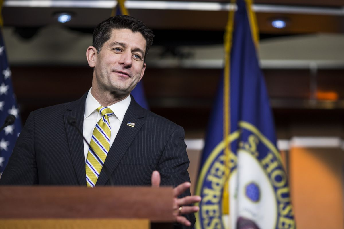 House Speaker Paul Ryan Holds Weekly News Conference At The Capitol