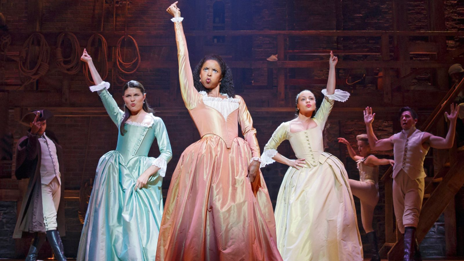 The Schuyler sisters from Hamilton