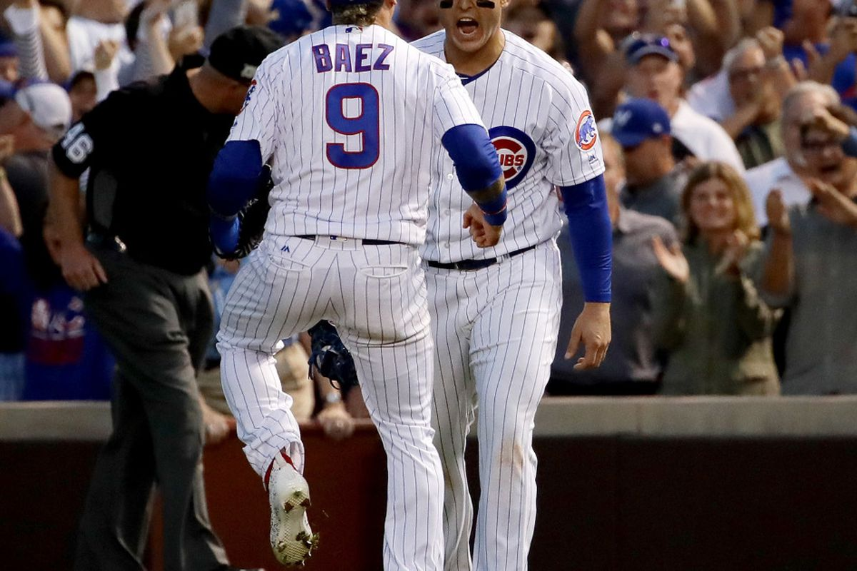 Baez in Cubs lineup for Game 4