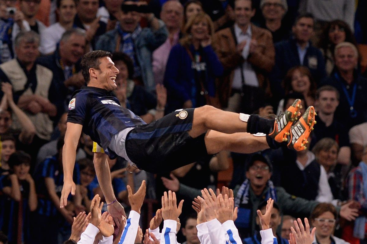 Paying tribute to Inter legend and Captain, Javier Zanetti