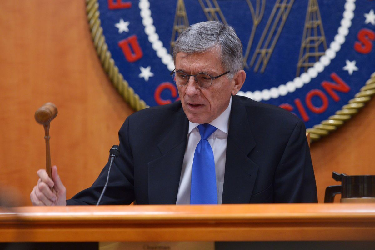 Chairman Tom Wheeler at Thursday's meeting of the Federal Communications Commission.