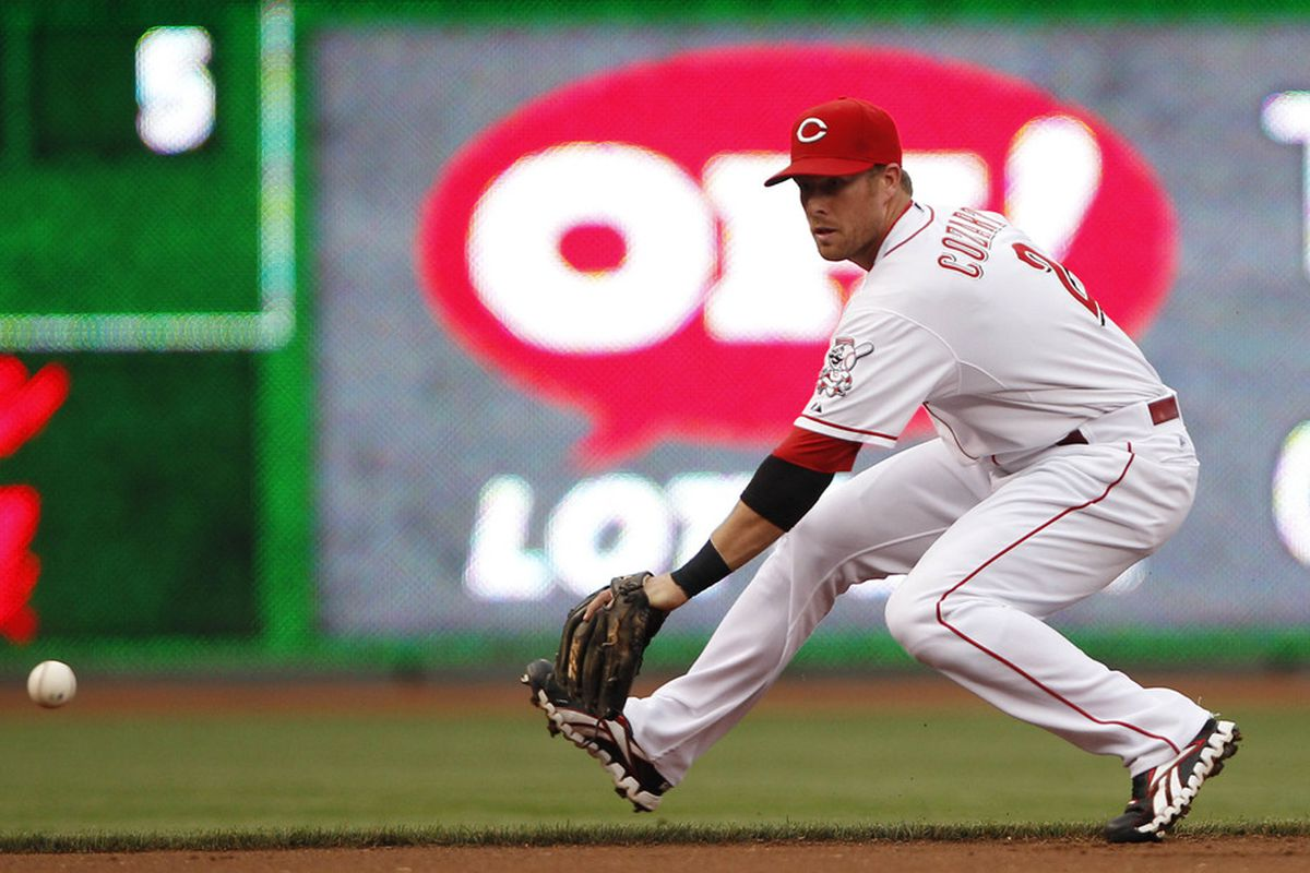 Is Zack Cozart long for the shortstop position in Cincy? Or will Billy Hamilton usurp him? Mandatory Credit: Frank Victores-US PRESSWIRE