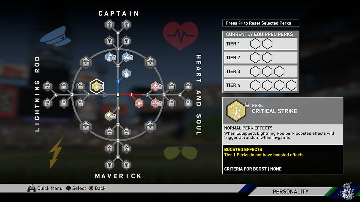 MLB The Show 19 - Road to the Show perks tree