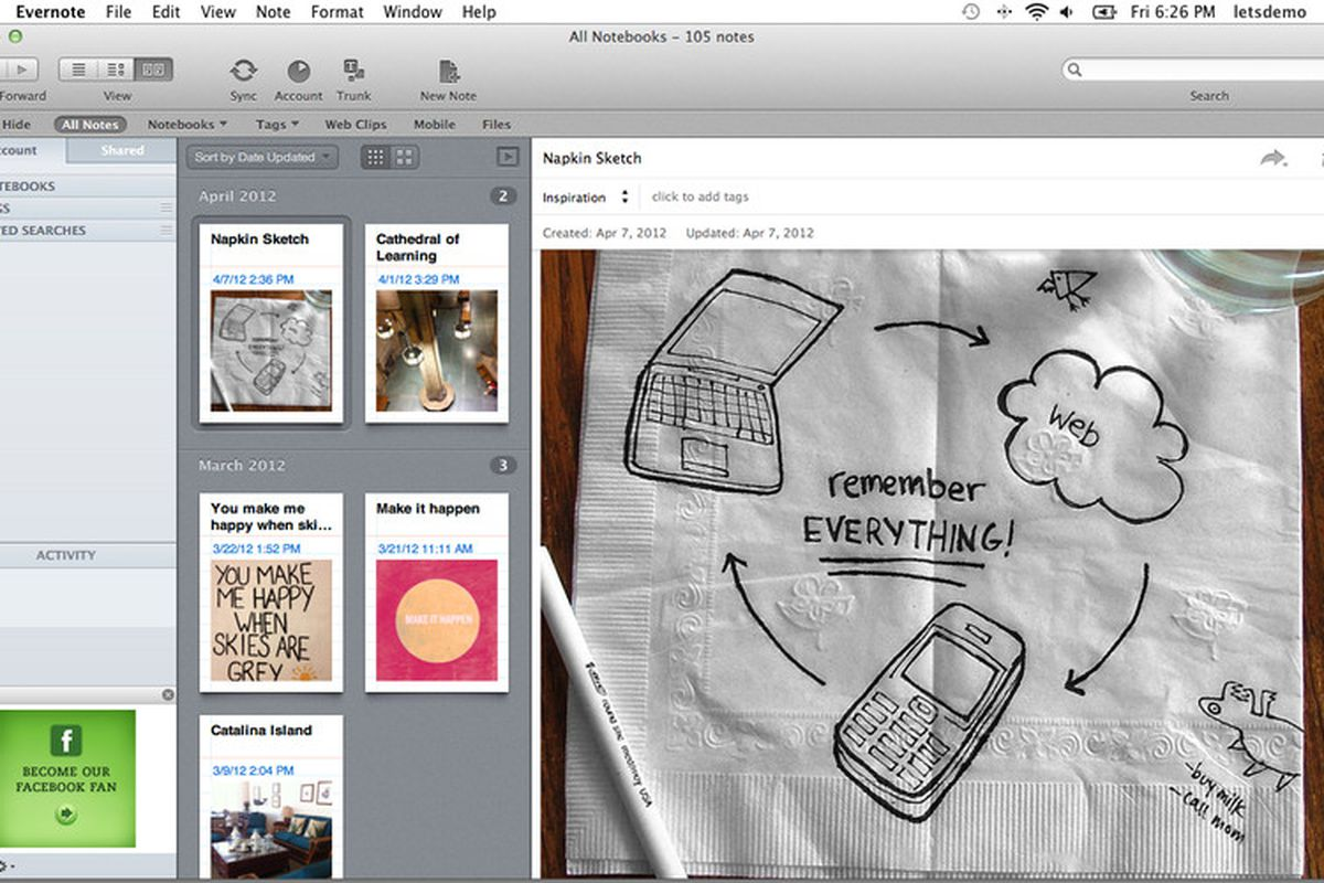 Evernote for Mac update features new 'card' view, improved