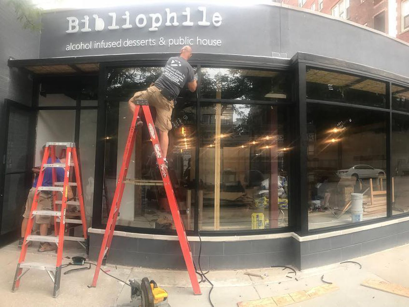 Bibliophile has come a long way since this photo over the summer.