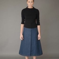 Amalia sweater, $325; Jane skirt, $575