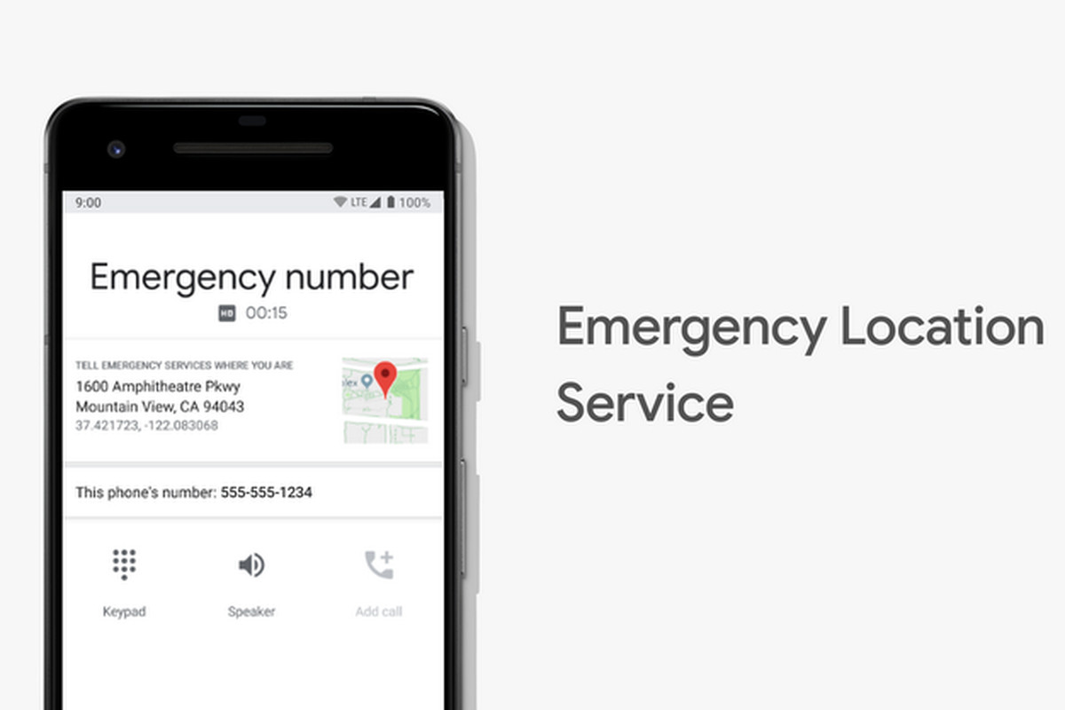 Google Emergency Location Services