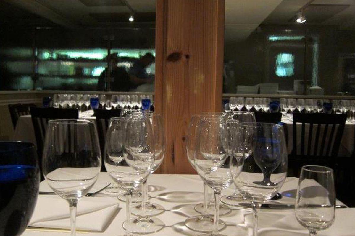 Killen's Steakhouse set up for their James Beard dinner