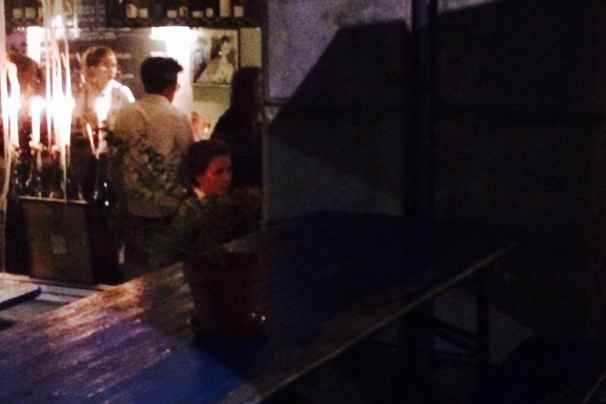 That's Maggie Gyllenhaal at Manfred's.