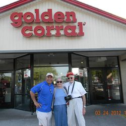 Vai Sikahema, Mary Ellen and Marty Klein – after dinner at the Port St. Lucie, Fla. Golden Corral.