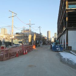 Sun 1/10: another view looking east on Waveland -