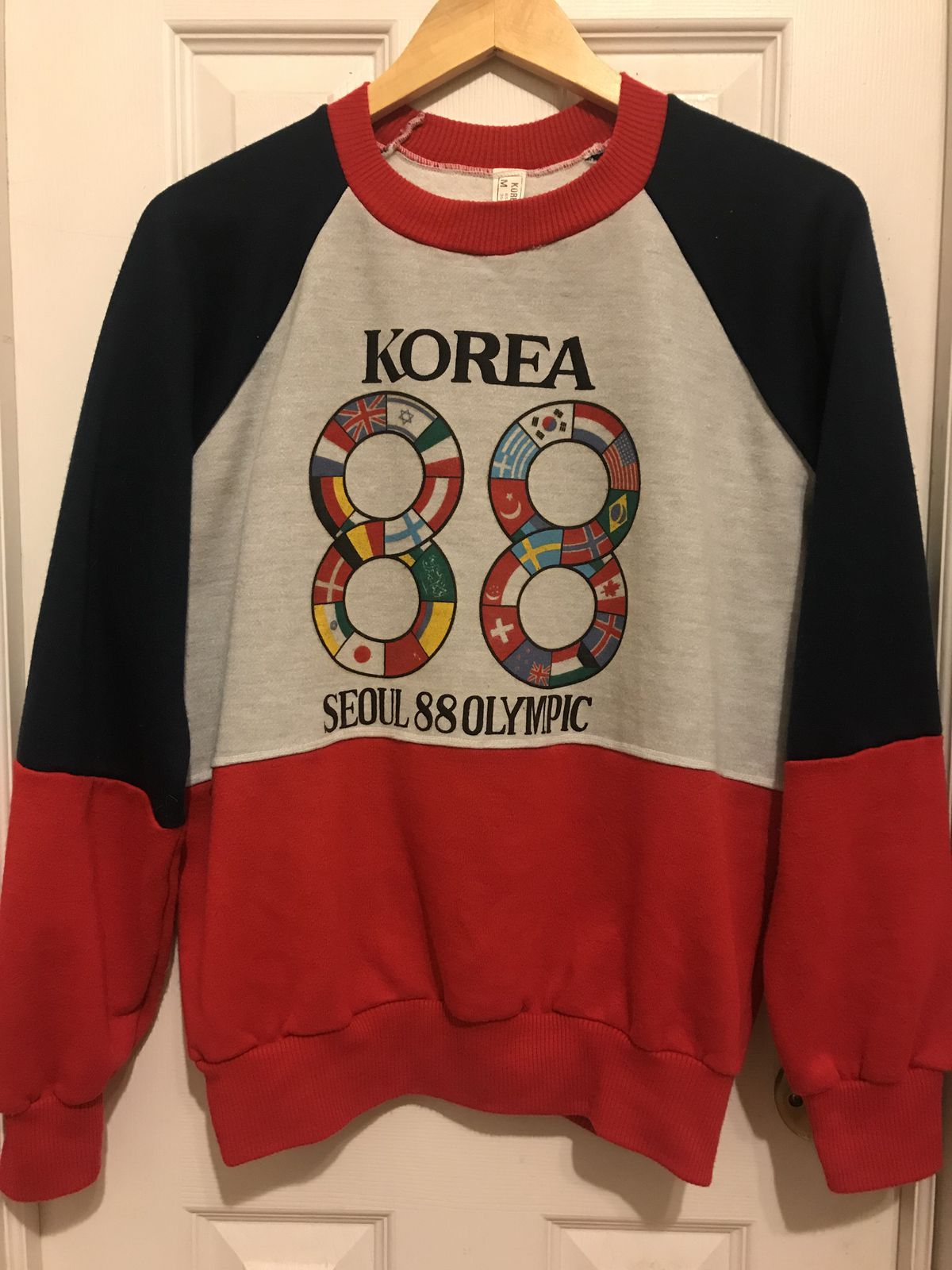 A sweater from the 1988 Olympics in Seoul, South Korea.