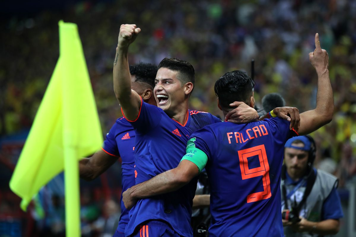 b72f95520a5 Colombia's superstars shine in 3-0 dissection of Poland. James Rodriguez, Juan  Cuadrado ...